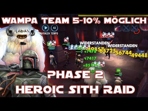 Star Wars Galaxy of Heroes - Sith Raid Phase 2 Heroic Wampa unter Boba - SWGOH Deutsch / German