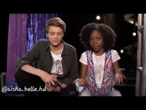 jace norman and riele downs twitter qampa action scene