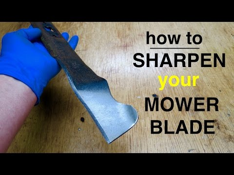 How to ● Sharpen a Lawn Mower Blade ● short and sweet !
