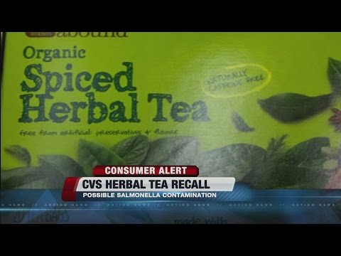 RECALL: Herbal tea contaminated with salmonella
