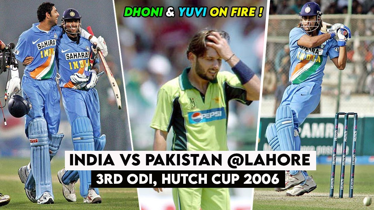 MS Dhoni saved the match from Pakistan - India vs Pakistan 3rd ODI Highlights | Hutch Cup 2006