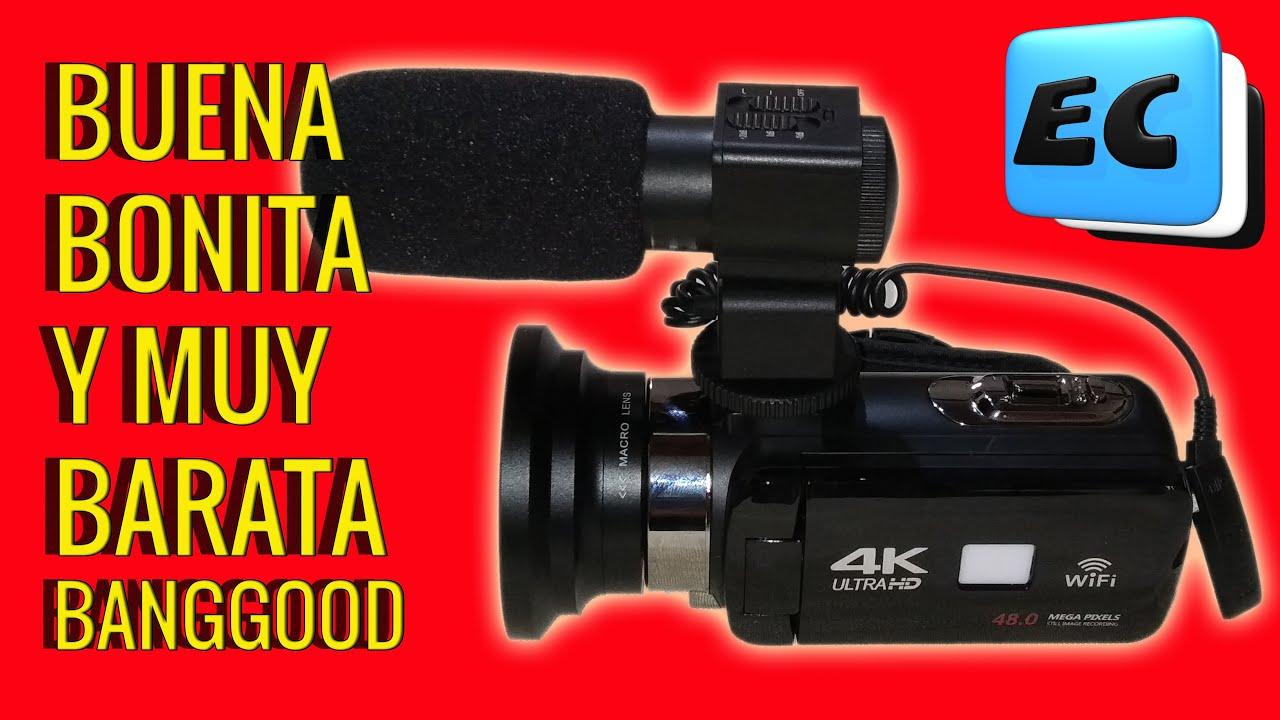 BUENA BONITA Y MUY BARATA, CAMCODER 4K ULTRA HD  Banggood