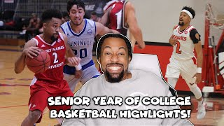 Reacting To My Senior Year Of College Basketball Highlights!