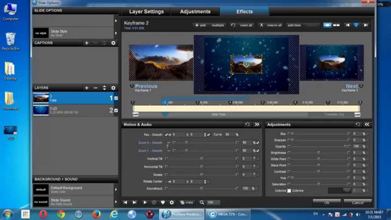 Bài 10 – Lồng ảnh vào video làm nền (Bài học hướng dẫn sử dụng ProShow Producer)