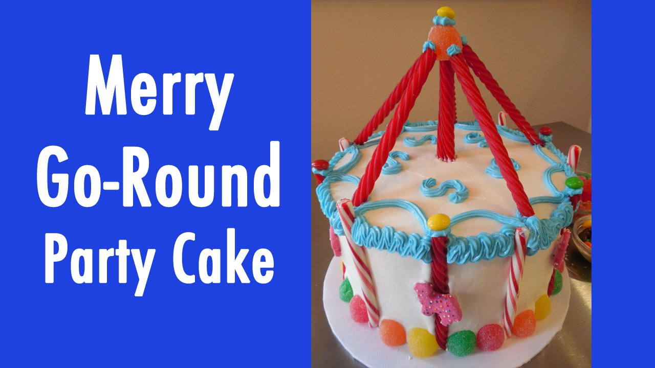 Simple To Make Carousel Merry Go Round Birthday Cake With Jill Youtube