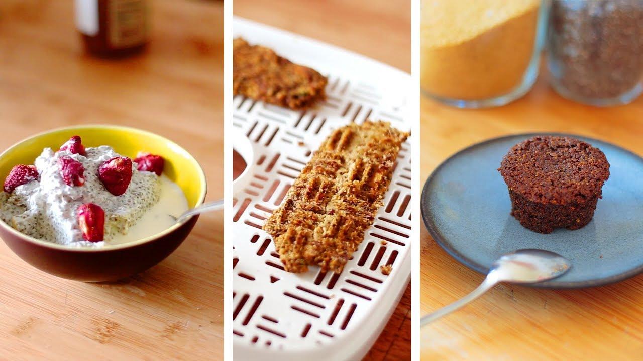 Semaine IG bas 3/3 : muffin sans farine, barre protéinée et porridge sans flocon