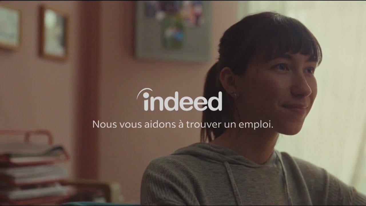 """Musique pub Indeed """"nous vous aidons à trouver un emploi""""  juillet 2021"""