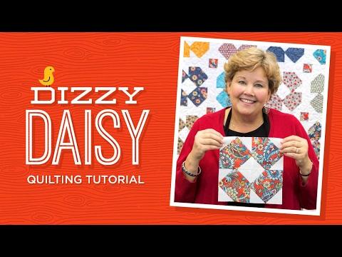 Make A Dizzy Daisy Quilt With Jenny Doan Of Missouri Star! (Video Tutorial)