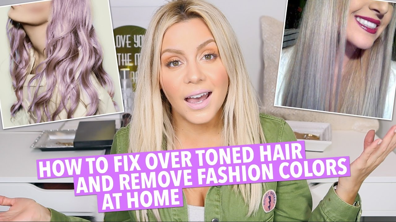How To Fix Over Toned Hair At Home Youtube