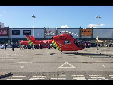 London Air Ambulance at Tottenham Hale Retail Park.