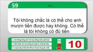 Luyện nói tiếng Anh - Phương pháp học thuộc câu mẫu - Mẫu câu theo cấu trúc ngữ pháp (câu 41-60)