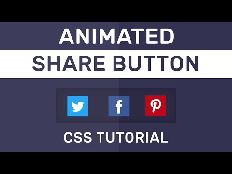 Animated Social Share Button CSS | CSS Social Buttons | CSS Tutorial thumbnail