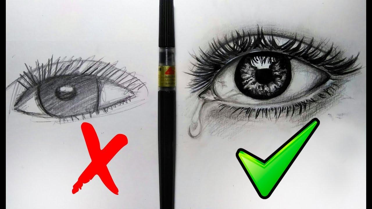 Que Hacer Y No Hacer Al Dibujar Ojos Realistas/ Sencillos Pasos