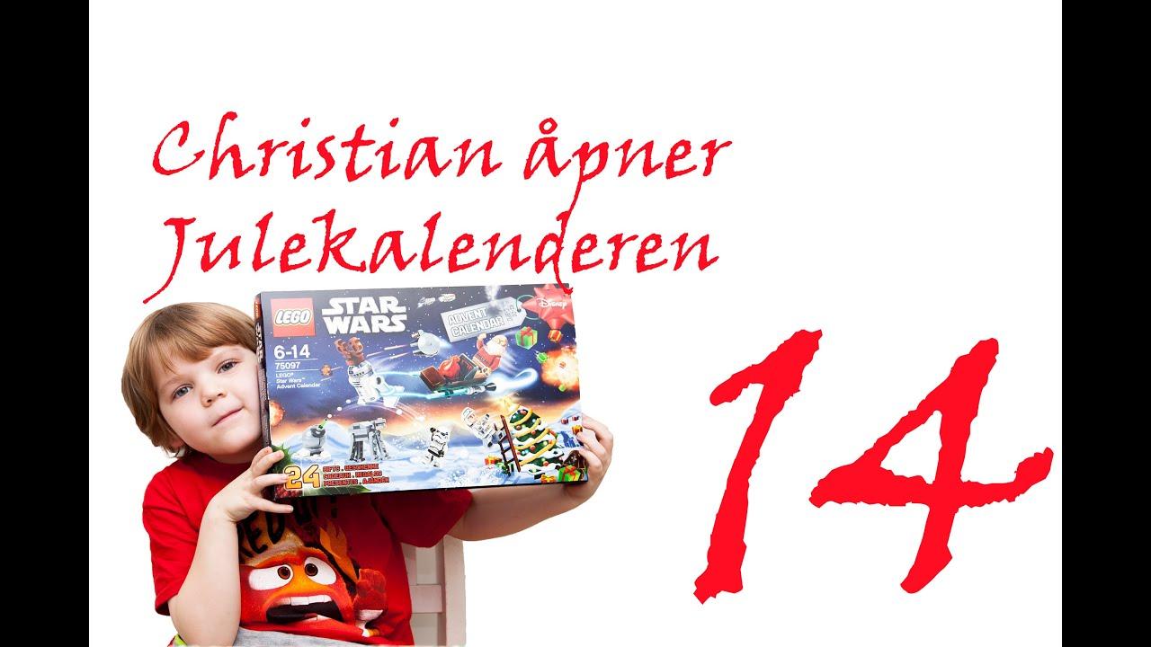 Julekalender 14 Desember Christian åpner Lego Star Wars
