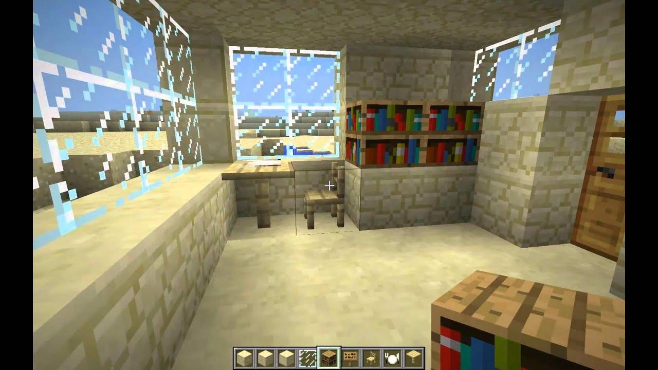 Minecraft construction d 39 une maison du d sert youtube for Minecraft construction d une maison