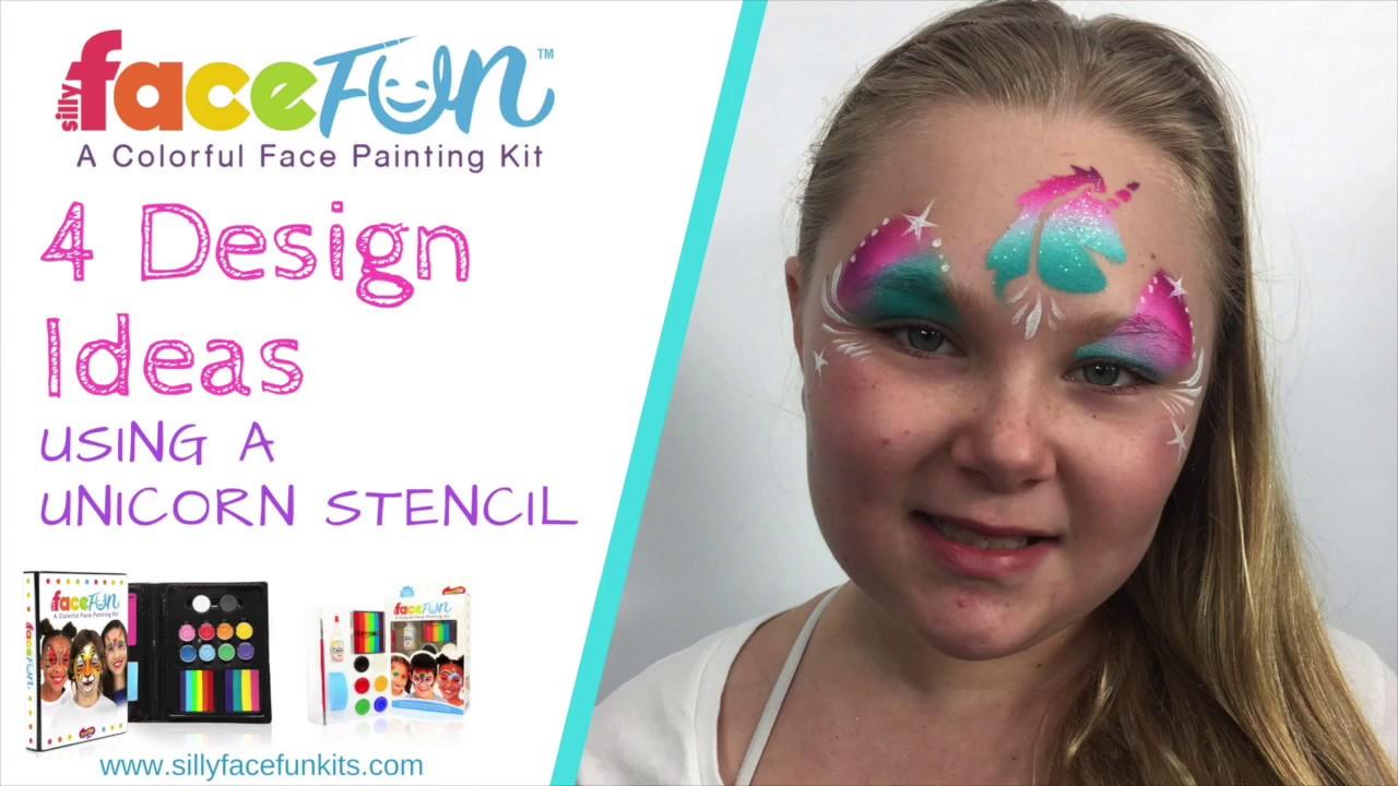 Silly FaceFun Design Ideas Using a Unicorn Stencil