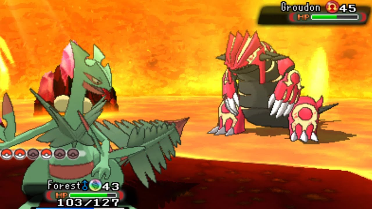 Pokemon Omega Ruby and Alpha Sapphire  Catching Groudon