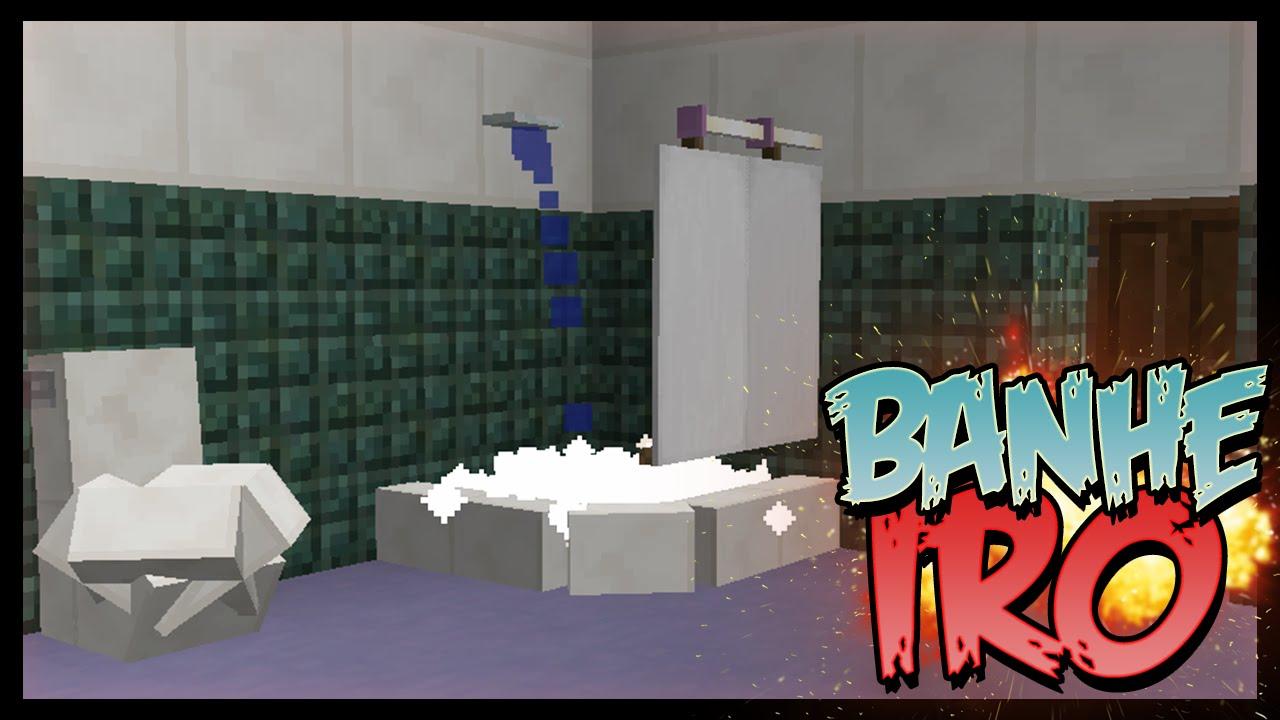 4 ITENS PARA DECORAR O SEU BANHEIRO NO MINECRAFT 19 (COMANDOS SECRETOS)  Yo -> Pia De Banheiro Minecraft
