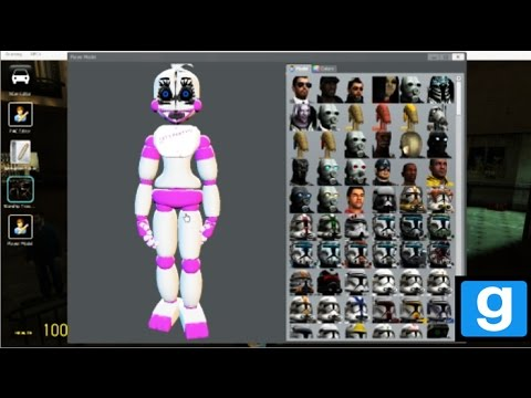 FNAF SISTER LOCATION GMOD FUNTIME CHICA PLAYER MODEL TEASER