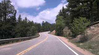 Drive into Boulder, Colorado via US 36, Baseline, and on to Sunshine Canyon Road