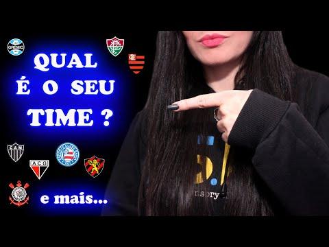 ASMR Binaural 🎧 TIMES DE FUTEBOL Do BRASIL | Sussurro - Pt BR