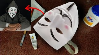 How to make Hacker, Vendetta, Anonymous Mask by using paper