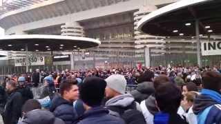 Inter - Juventus 0-0. Entrata nello stadio dei tifosi Juventini
