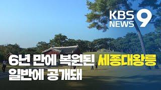세계문화유산 세종대왕릉, 6년 만에 제 모습 찾아 / …