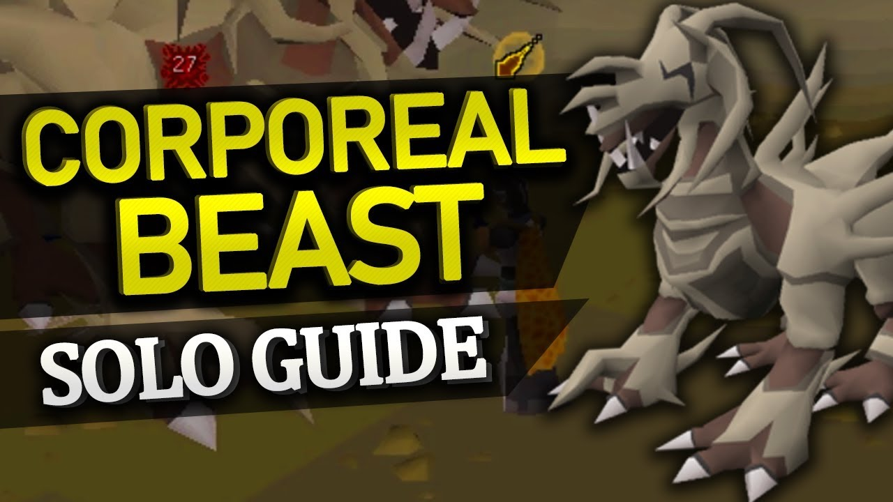 Solo Corporeal Beast Guide (almost 0 damage)