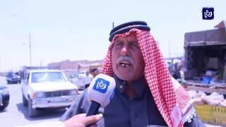 الباعة المتجولون في لواء القصر في الكرك يعيقون حركة المركبات - (6-8-2017)