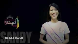 Miss Kebaya Malaysia 2012 Finalist Sandy Song Self-introduction