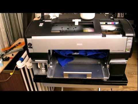 Dtg Diy Epson 1400 Printing White Ink Youtube