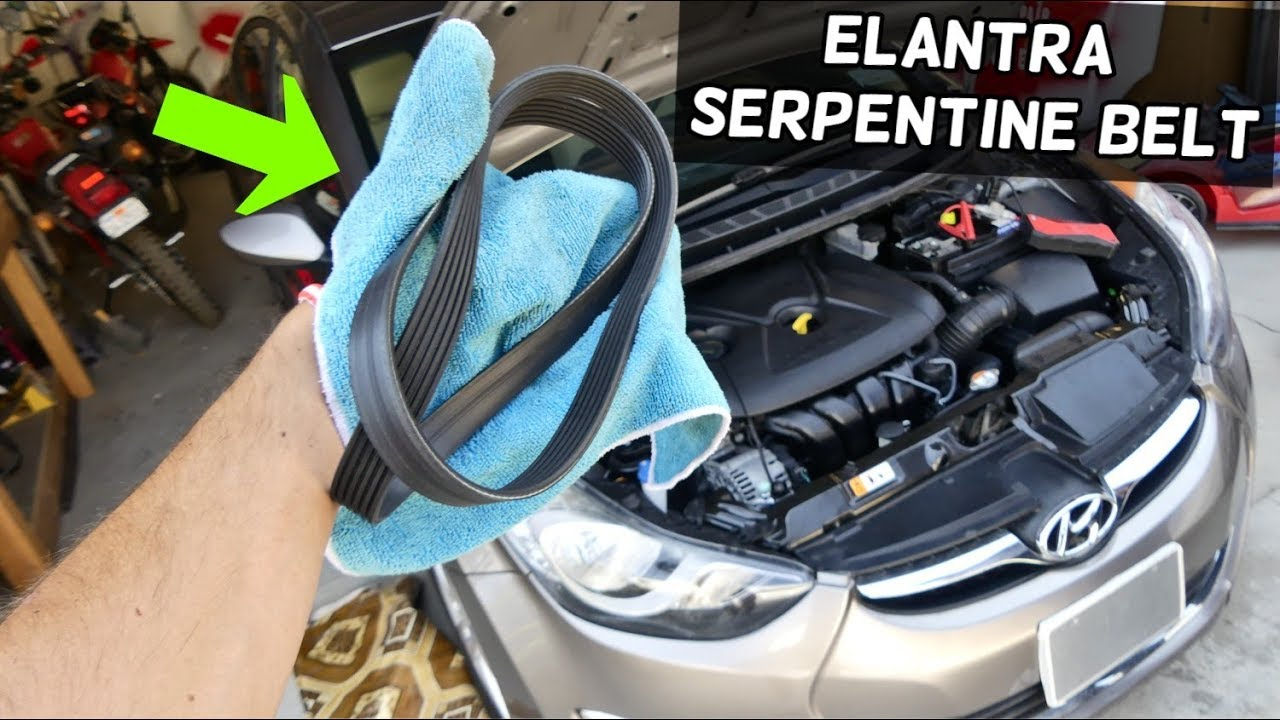 How To Rpelace Serptine Belt On Hyundai Elantra Belt Diagram