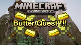 minecraft pocket edition adventure map butter quest part 1