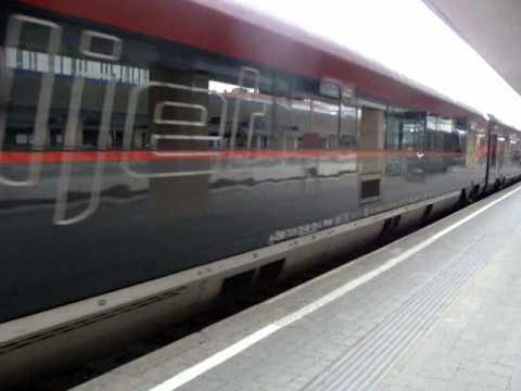 RailJet Abfahrt Departure from Vienna Wien Westbahnhof to Zürich
