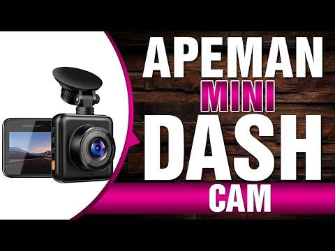 APEMAN Mini Dash Cam 1080P Full HD Dash Camera for Cars Recorder Super Night Vision, 170° Wide Angle