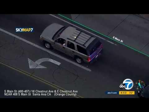 Santa Ana Police Chase Stolen SUV  12/20/18