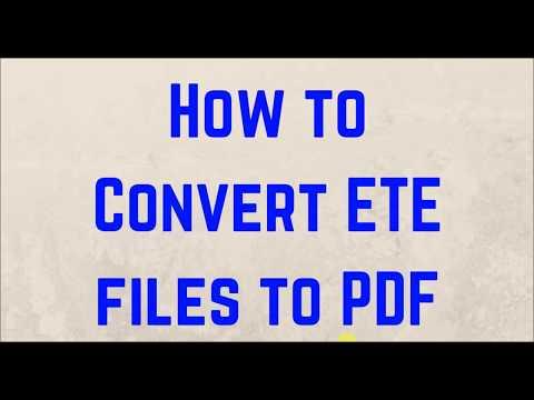 ETE to PDF Converter - Convert ETE format to PDF