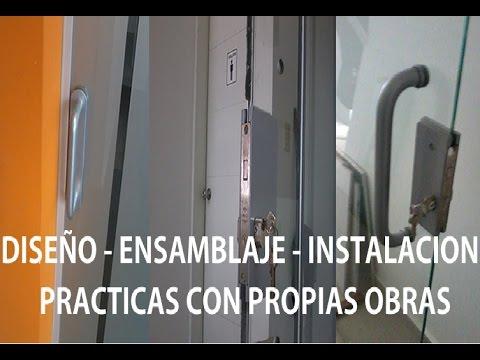 Como hacer puertas de aluminio para ba o youtube for Puertas de aluminio blanco para bano