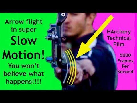 Download Youtube: Archery Slow Motion Arrow Flight Cycle Slow Motion 5000fps
