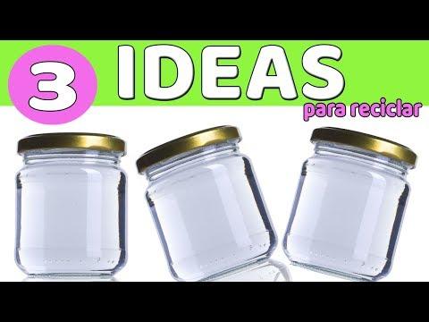 C脫MO RECICLAR 3 Manualidades con frascos de cristal