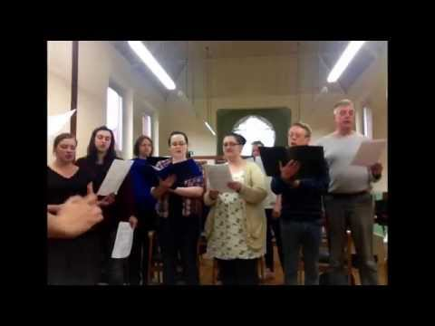 Greater Manchester Humanist Choir.First rehearsal of Seikilos Epitaph.May 2014