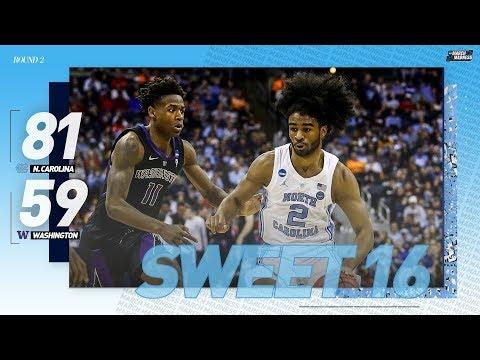 North Carolina vs. Washington: Second round NCAA tournament extended highlights