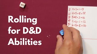 Rolling  Stats for D&D Abilities