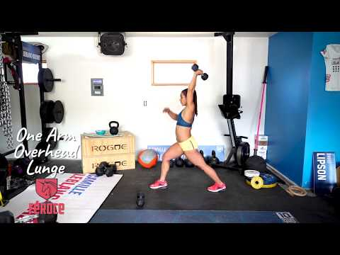 One Arm Overhead Lunge