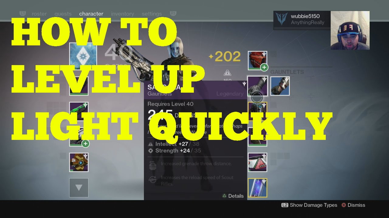 destiny how to level up fast