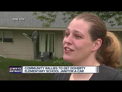 Community rallies to get Doherty Elementary School janitor a car