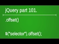 jquery offset function - part 101
