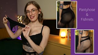 Sexy Pantyhose  Fishnet Stockings Try On Haul  2021