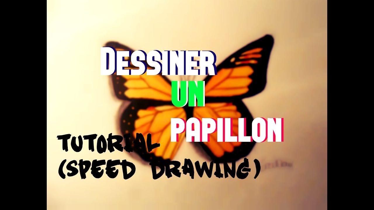 Dessiner un papillon speed drawing youtube - Dessine un papillon ...